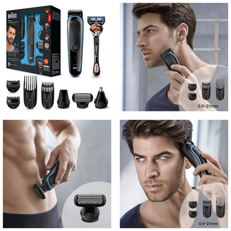 afeitadora corporal braun para la barba y pelo