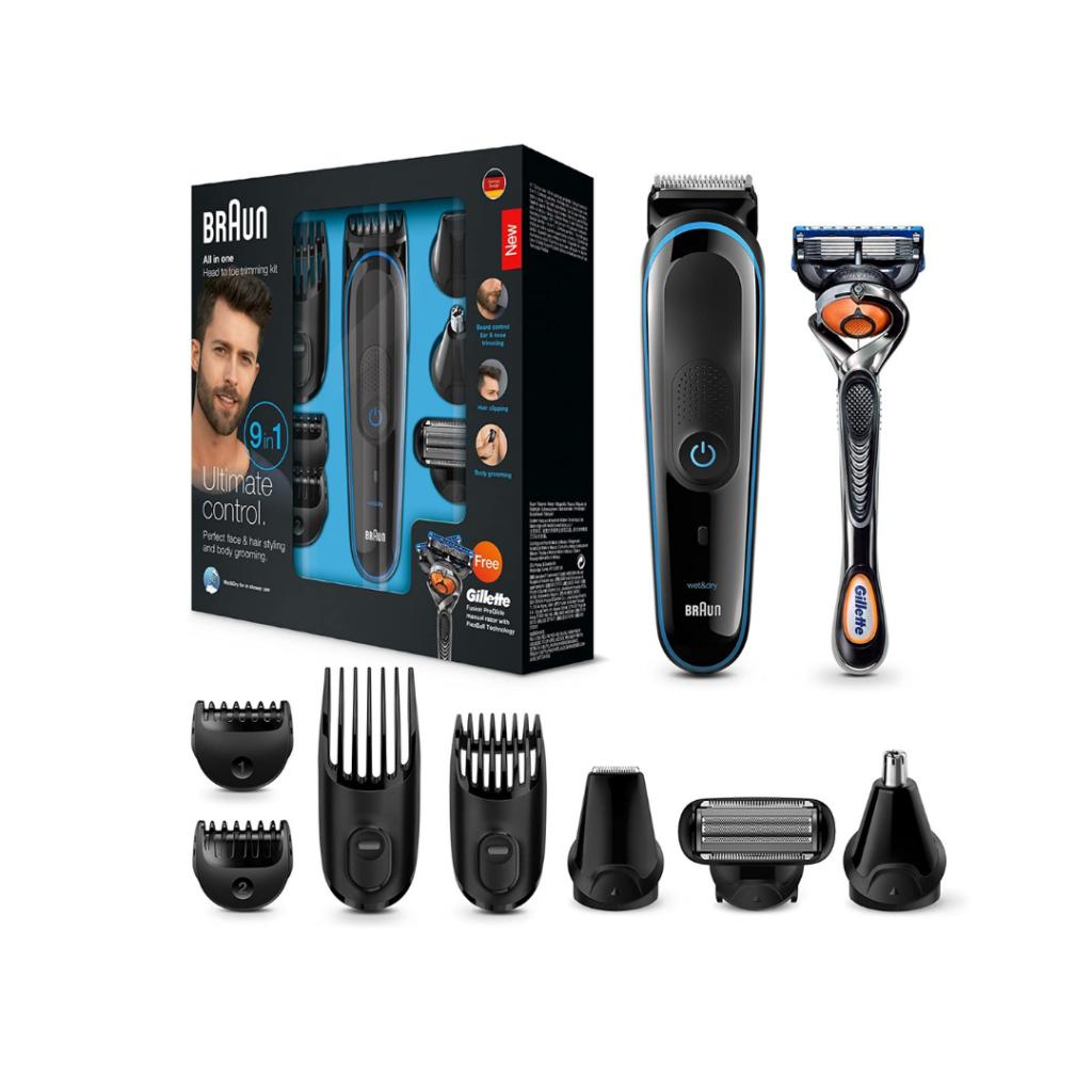 afeitadora braun para barba y cuerpo